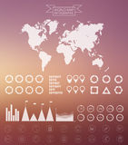 传染媒介世界地图infographics设计模板 库存照片