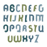 传染媒介丙烯酸酯的字体,手写的水彩信件 库存图片