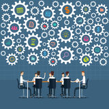 传染媒介业务会议和突发的灵感项目过程 免版税图库摄影