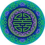 传染媒介东方中国装饰品亚洲传统样式花卉葡萄酒元素切开了剪影装饰品中亚 免版税库存图片