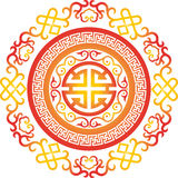 传染媒介东方中国装饰品亚洲传统样式花卉葡萄酒元素切开了剪影装饰品中央asi 图库摄影