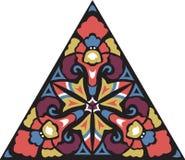 传染媒介东方传统花三角样式 免版税库存照片