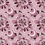 传染媒介乱画手拉的无缝的花卉样式 库存照片