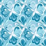 传染媒介乱画手拉的无缝的花卉样式 免版税图库摄影