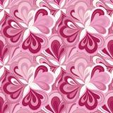 传染媒介乱画手拉的无缝的花卉样式 库存图片