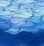 传染媒介乱画手拉的线波浪背景  皇族释放例证