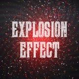 传染媒介五彩纸屑对黑暗的外层空间背景的爆炸作用 皇族释放例证