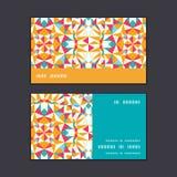 传染媒介五颜六色的三角纹理水平的条纹 库存照片