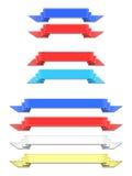 传染媒介五颜六色的丝带 库存图片