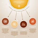 传染媒介五颜六色的信息图表 免版税库存图片