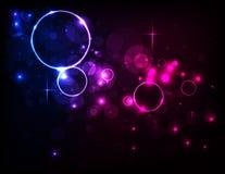 传染媒介五颜六色的圈子摘要光背景 库存图片