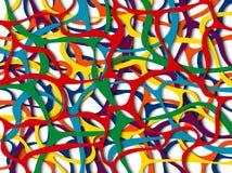传染媒介五颜六色的曲线线背景 免版税库存照片