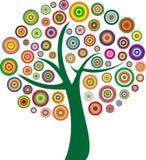 传染媒介五颜六色的树 免版税库存照片