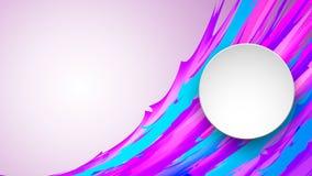 传染媒介五颜六色的横幅由明亮的线做成 库存照片