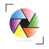 传染媒介五颜六色的照相机快门 图库摄影