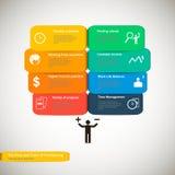传染媒介五颜六色的自由职业者的infographics 库存图片