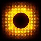 传染媒介五颜六色的迪斯科点燃框架 免版税库存照片