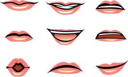传染媒介人的嘴唇(女性) 免版税图库摄影