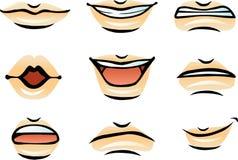 传染媒介人的嘴唇(男性) 免版税库存图片