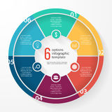 传染媒介企业圆形统计图表圈子infographic模板 免版税库存照片