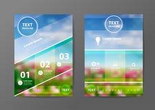 传染媒介企业小册子飞行物设计版面模板 免版税库存图片