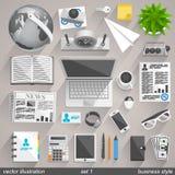 传染媒介企业样式。集合1 免版税库存图片