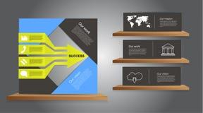 传染媒介企业infographics 免版税库存图片