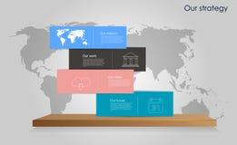 传染媒介企业infographics 库存图片