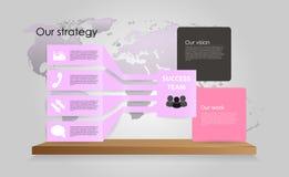 传染媒介企业infographics 库存照片