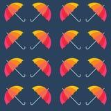 传染媒介伞 抽象无缝的样式设计 库存照片