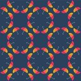 传染媒介伞 抽象无缝的样式设计 免版税库存照片