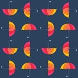 传染媒介伞 抽象无缝的样式设计 免版税库存图片