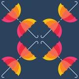 传染媒介伞 抽象无缝的样式设计 图库摄影