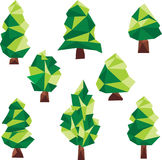 传染媒介低多杉木剪贴美术 图库摄影