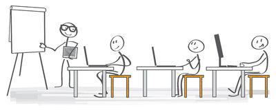 传染媒介例证企业训练 库存例证