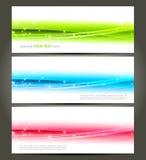 抽象颜色横幅 免版税图库摄影