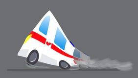 传染媒介例证救护车汽车 救护车自动医务人员紧急状态 救护车车医疗撤离 动画片 免版税图库摄影