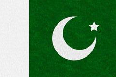 传染媒介例证旗子巴基斯坦美国独立日 在时髦葡萄酒样式的巴基斯坦旗子 8月14日海报的, b设计模板 图库摄影