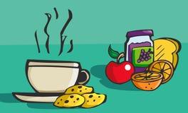 传染媒介例证早餐 库存照片