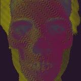 传染媒介例证板刻头骨和画象 免版税库存图片