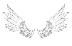 传染媒介翼 向量例证