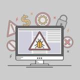 传染媒介例证计算机病毒 免版税库存照片