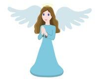 传染媒介例证逗人喜爱的天使字符 免版税库存照片