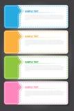 传染媒介例证,创造性的工作的五颜六色的模板 库存照片