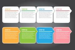 传染媒介例证,创造性的工作的五颜六色的横幅模板 免版税库存图片