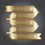 传染媒介例证,设计工作的丝带横幅 免版税库存照片