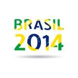 传染媒介例证巴西2014年 免版税库存图片