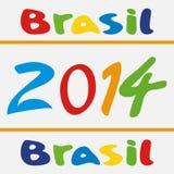 传染媒介例证巴西2014年 免版税库存照片
