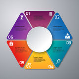 传染媒介例证infographics三角,六个选择 向量例证