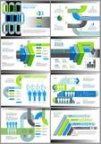 传染媒介例证infographics集合 小册子的模板,事务,网络设计 免版税图库摄影